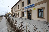 Opravená nádražní budova v Bohušovicích nad Ohří