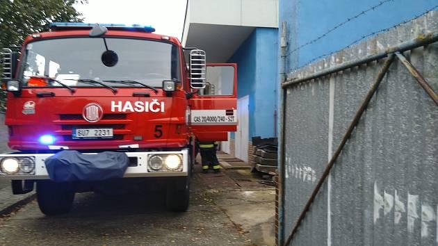 Hasiči zasahovali na zimním stadionu v Roudnici nad Labem