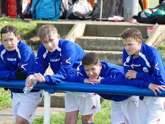 Fotbalisté SK Roudnice U14 na turnaji v Praze.