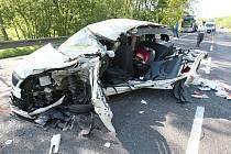 Nehoda za Velemínem směrem na Bořislav