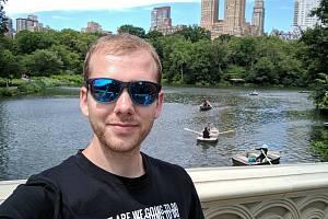 Luboš Vosecký v newyorském Central Parku