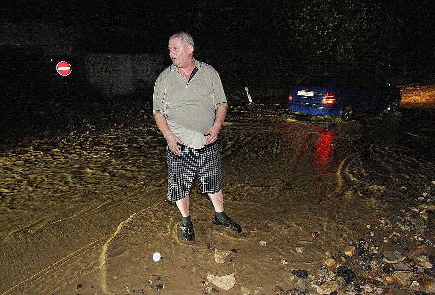 Silný déšť způsobil problémy na Lovosicku.