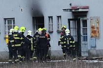 Požár drážního objektu v Lovosicích, 19.3.2021