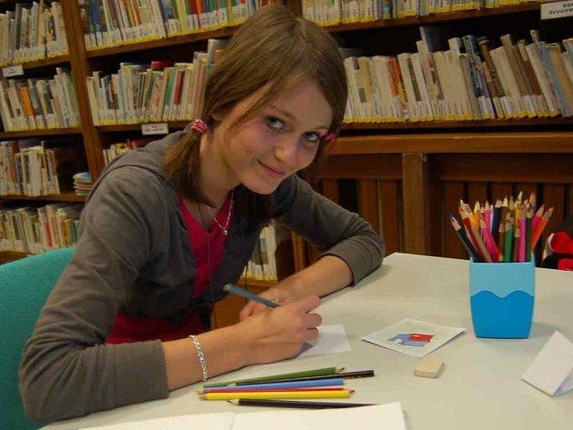 Na snímku je Kateřina Čechová z Křešic, která se akce zúčastnila.