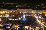 Rozsvícení vánočního stromu v Litoměřicích. Archivní foto