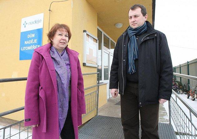 Ředitel azylového Domu Naděje Aleš Slavíček a vedoucí tohoto zařízení Daniela Plevová.