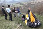 Nehoda paraglidisty u Radobýlu