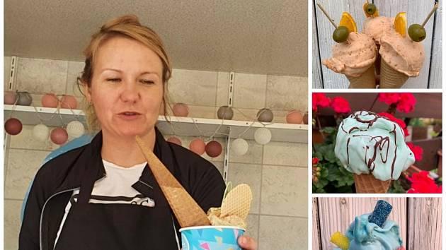 Lucie Kudibálová a její zmrzliny