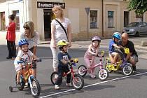 NA STARTU se objevili také tentokrát i nejmladší cyklističtí nadšenci.