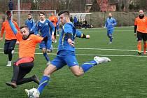 Fotbalová zimní příprava, Roudnice (oranžoví) - Litoměřicko B.