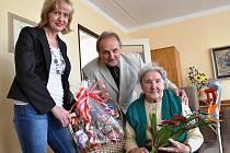 101. NAROZENINY. Milada Nečesaná z Litoměřic oslavila rekordních 101 let.