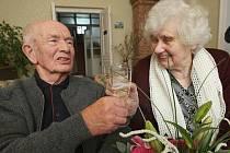 Manželé Dědinovi z Třebušína oslavili 65 let společného života.