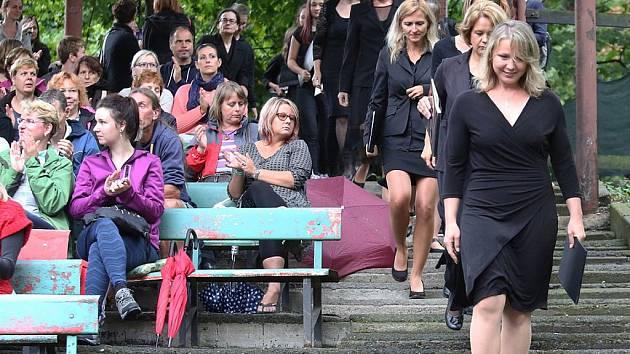 Velký letní koncert v Litoměřicích loni. Konal se v letním kině