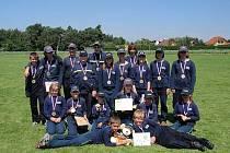Mladí brozanští hasiči.