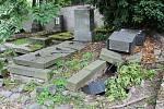 Litoměřický hřbitov hyzdí několik rozpadlých hrobů, o které se majitelé nestarají.