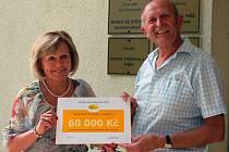Hospic obdržel dar 60 tisíc korun.