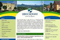 Úvodní stránka libochovanského webu.