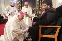 Večerní mše svatá na Zelený čtvrtek v Katedrále sv. Štěpána v Litoměřicích