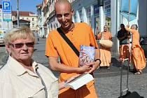 Do Litoměřic opět po roce zavítali mniši hnutí Hare Kršna
