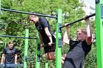 Workoutové hřiště u Základní školy Ladova v Litoměřicích bude sloužit školákům i veřejnosti