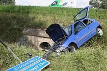 Dopravní nehoda u Litochovic.