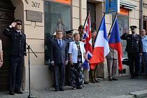 Odhalení pamětní desky Jiřímu Kučerovi v Roudnici nad Labem