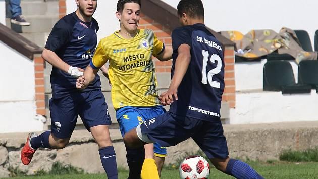 Fotbalový zápas mezi Litoměřickem a Benešovem, ČFL 2018/2019