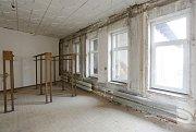 Rekonstrukce v Kulturním středisku Lovoš.