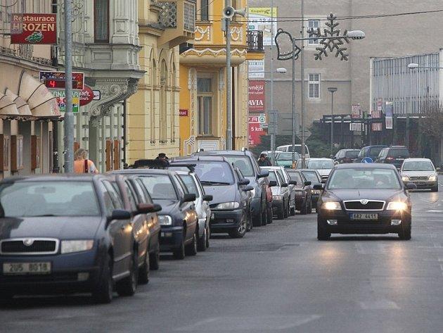 Parkování v Lovosicích.