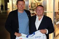 Předseda HC Stadion Litoměřice Daniel Sadil a prezident ČSLH Tomáš Král