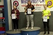 Michaela Vavroušková (vítězka), dvojnásobná mistryně ČR ve střelbě. Foto: Archiv sportovce