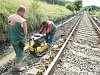Opravy na vlakové trati, ilustrační foto.
