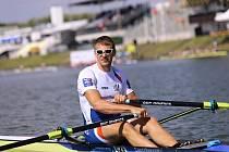 Skifař Ondřej Synek na mistrovství Evropy v Račicích.
