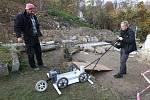 Průzkum georadarem na hřbitově v Čížkovicích na Litoměřicku
