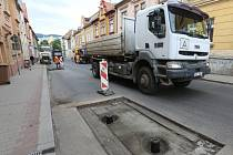 OPRAVY objízdné trasy v centru Litoměřic by měly skončit během několika týdnů.