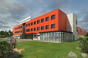 Vizualizace Národního střeleckého centra, které brzy vznikne v Lovosicích.