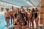 Litoměřičtí plavci po postupu do semifinále MČR družstev na konci ledna 2019.