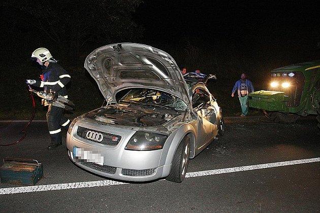 Nedělní nehoda u Třebívlic