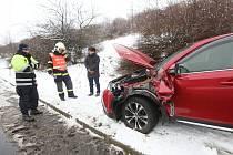 Dopravní nehoda u Třebenic.