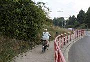 Okolí silnic první třídy trápí Lovosičany. Na snímku stav z 19. července.