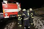 V Prackovicích hasiči zasahovali u požáru autodílny.
