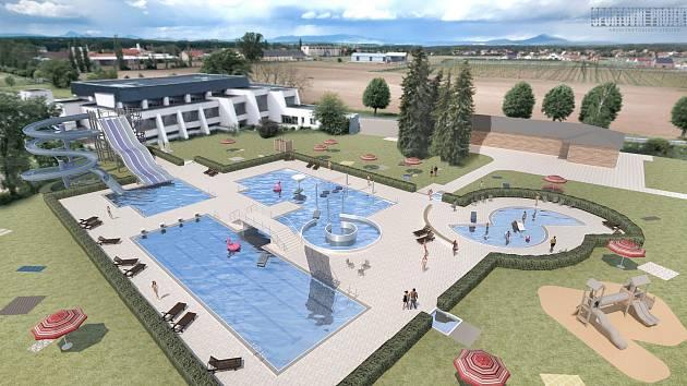 Letní koupaliště v Roudnici má nabídnout plavecké dráhy i vodní atrakce
