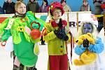 Akce Barevný ledový den aneb Maškarní na ledě v Lovosicích.