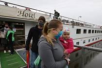 Největší hotelová loď Florentina zakotvila v Litoměřicích