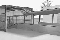 Luxusní provedení podchodu od architekta Vladimíra Nováka. Dominantním materiálem je sklo