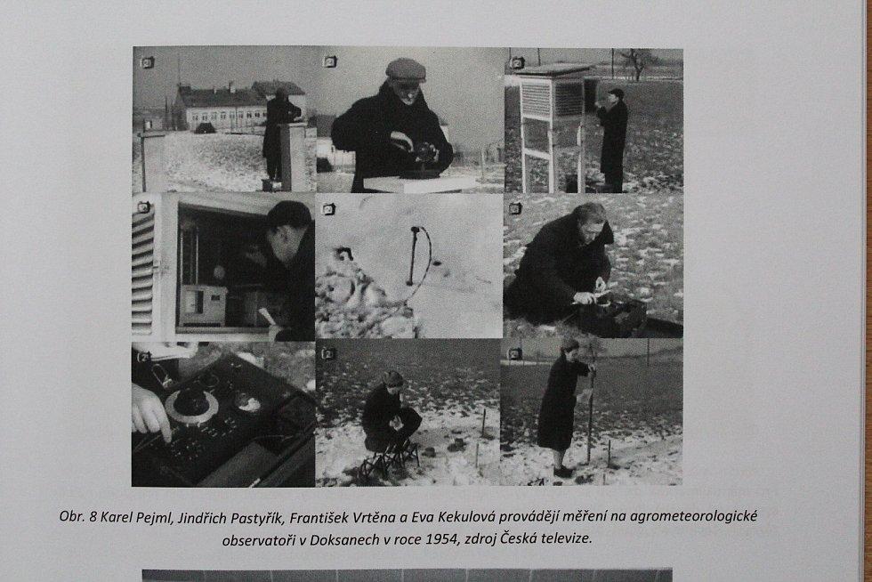 Zima na měřící stanci v Doksanech v roce 1954