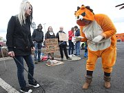 Litoměřický protest proti zotročování zvířat v cirkusech.