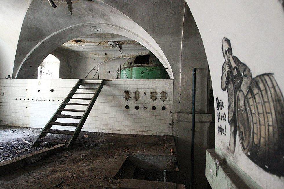 Současný stav bývalého pivovaru v Roudnici nad Labem.
