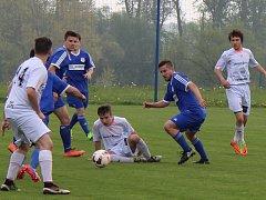 Fotbalové utkání krajského přeboru: Hrobce - Proboštov