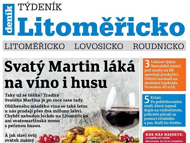 Týdeník Litoměřicko ze 7. listopadu 2018